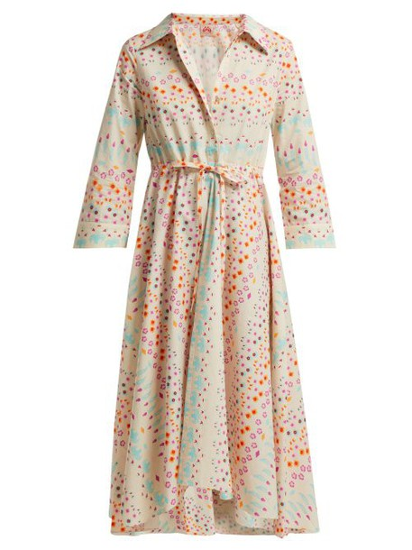 Le Sirenuse, Positano - Lucy Floral Printed Cotton Shirtdress - Womens - White Print