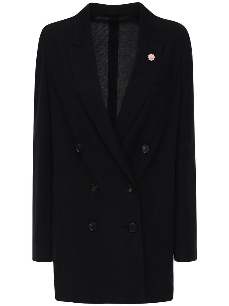LARDINI Sila Liknit Oversize Blazer in black