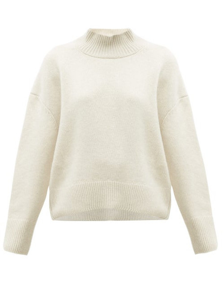 Brock Collection - Pilota Funnel Neck Wool Blend Sweater - Womens - Cream