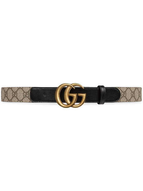 Gucci Double G buckle GG belt in black