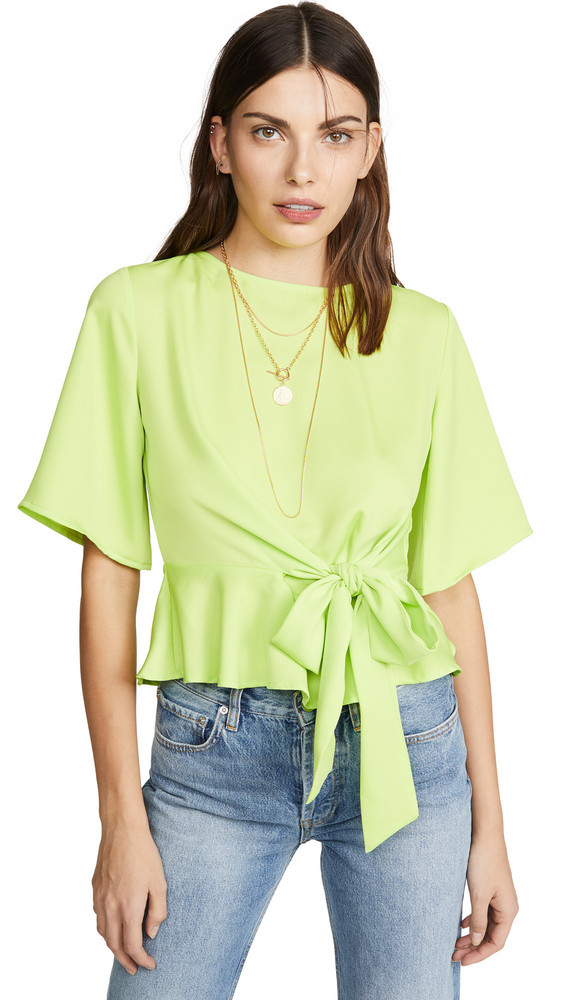 J.O.A. J.O.A. Neon Green Yellow Blouse