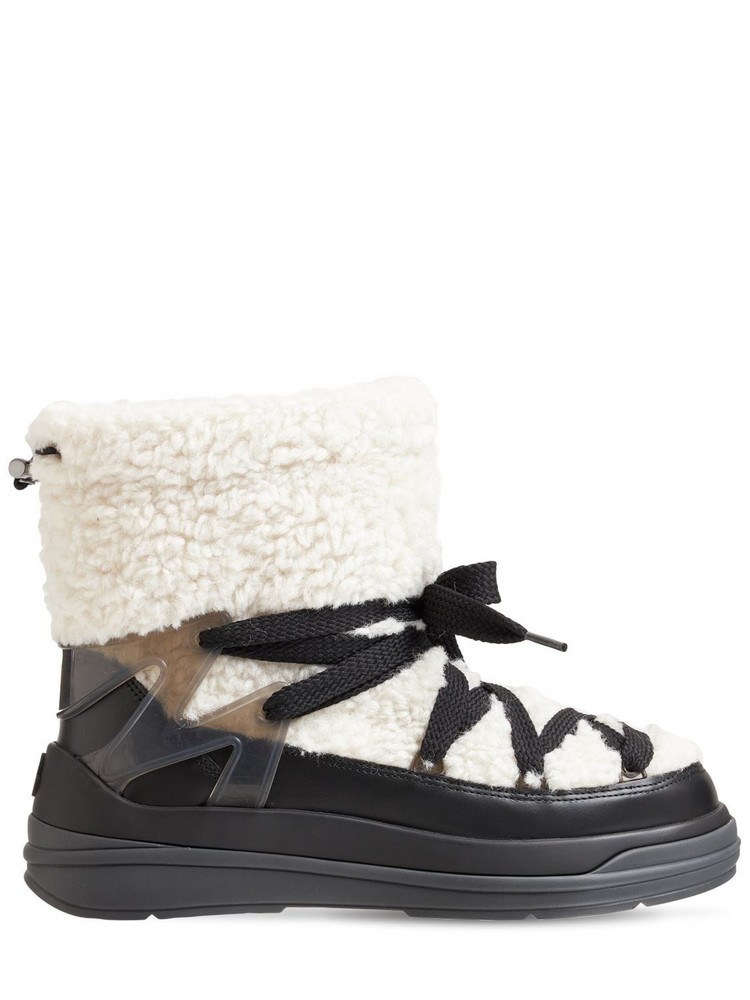 MONCLER 30mm Insolux M Padded Nylon Snow Boots in black / white