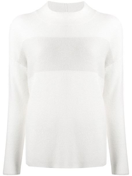 Fabiana Filippi crew neck knit sweater in white