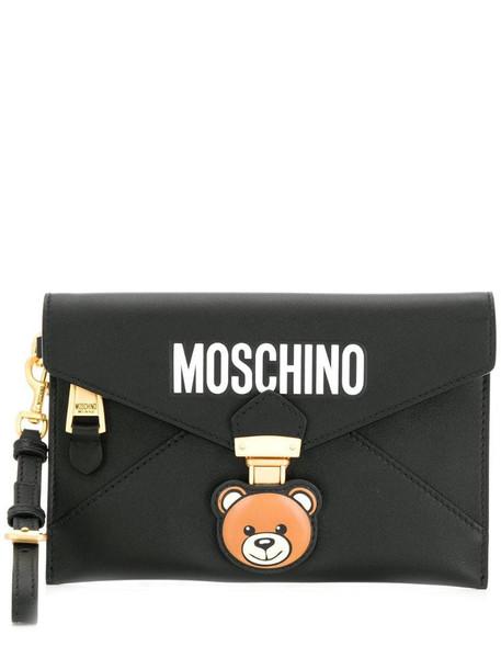 Moschino Teddy Bear clutch bag in black