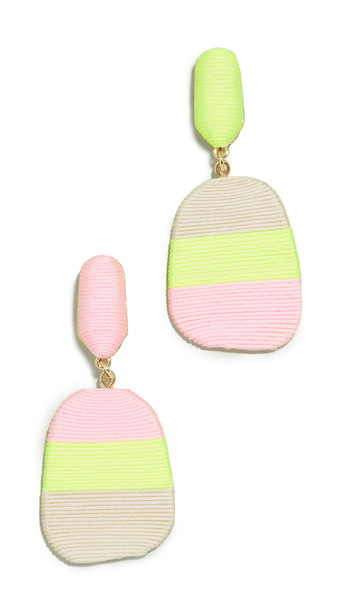 Mary Jane Small Size New Rio Earrings in pink / yellow / beige