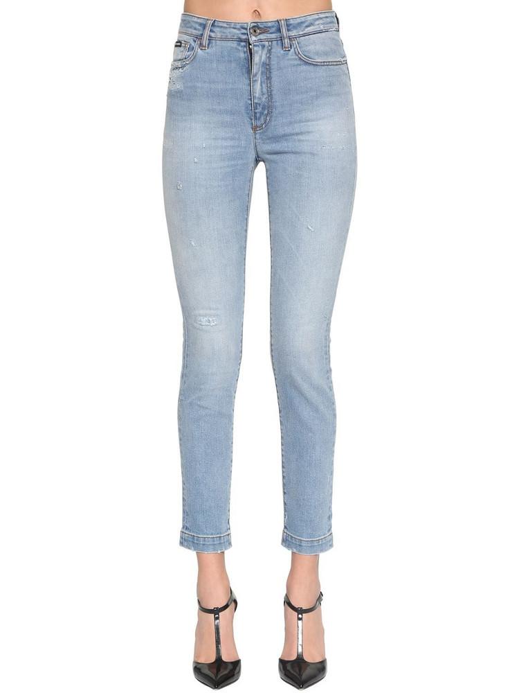 DOLCE & GABBANA Regular Waist Cotton Denim Stretch Jeans