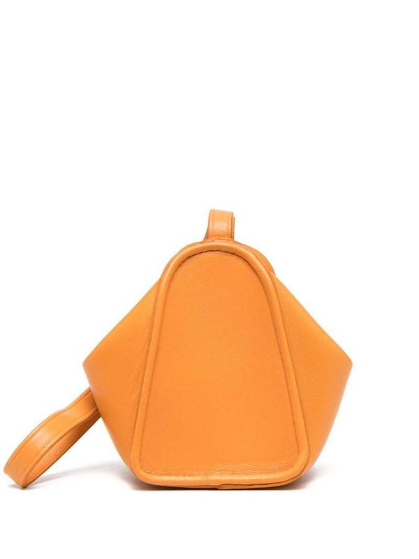 Lemaire wrist strap purse in orange