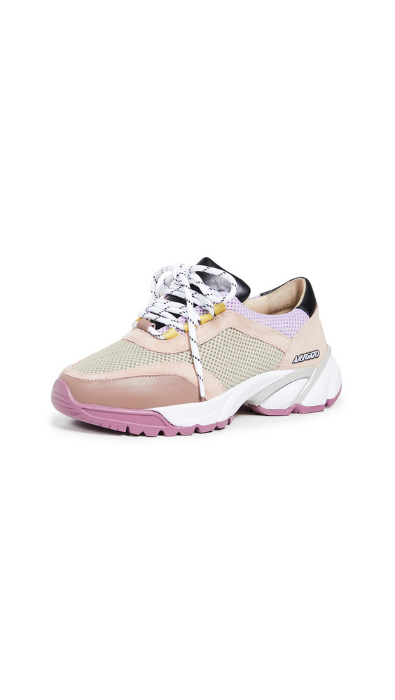 Axel Arigato System Runner Sneakers in taupe / pink