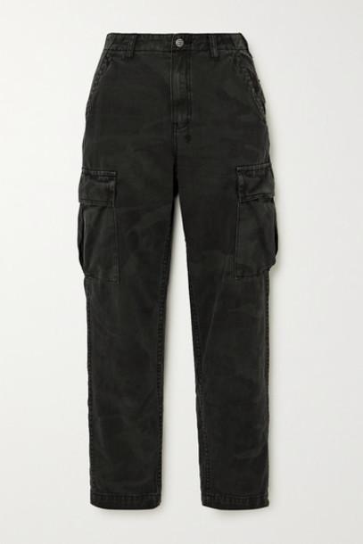 Ksubi - Equaliser Camouflage-print Denim Straight-leg Cargo Pants - Black