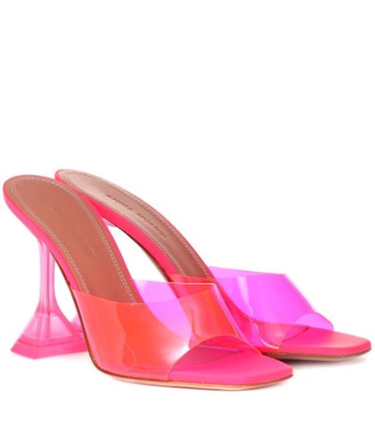 Amina Muaddi Lupita PVC sandals in pink