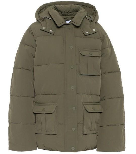 Ganni Puffer jacket in green