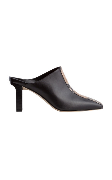 Aeyde Jude Embossed Mules in black