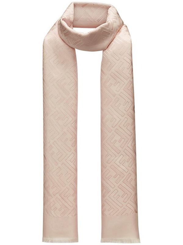 Fendi logo scarf in pink