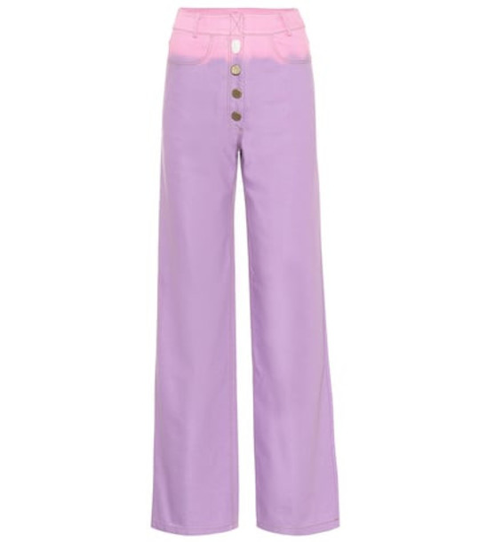 Rejina Pyo Valerie high-rise wide-leg jeans in purple