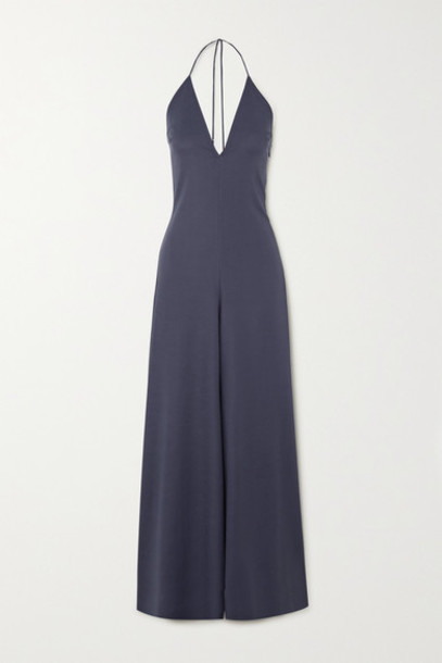 Cult Gaia - Irina Backless Cady Halterneck Jumpsuit - Navy