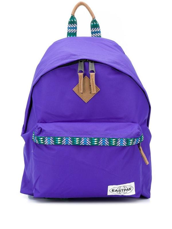 Eastpak two-tone zipped backpack in purple