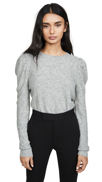 Generation Love Tinsley Sequin Sweater in grey / silver
