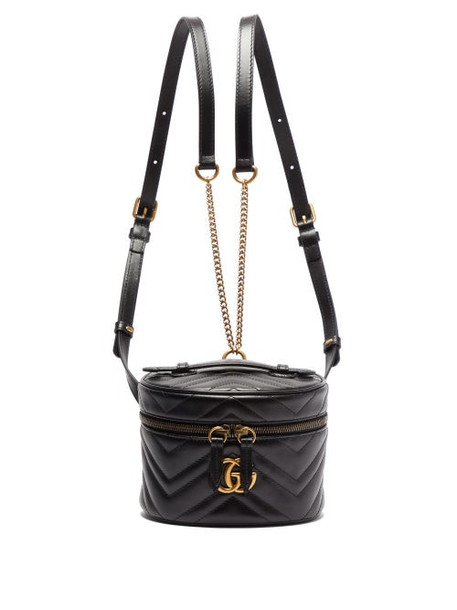Gucci - Gg Marmont Mini Leather Backpack - Womens - Black