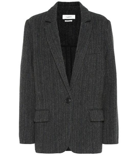 Isabel Marant, Étoile Charly herringbone wool jacket in black