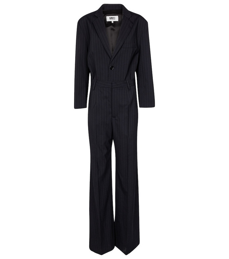 MM6 Maison Margiela Pinstriped jumpsuit in blue