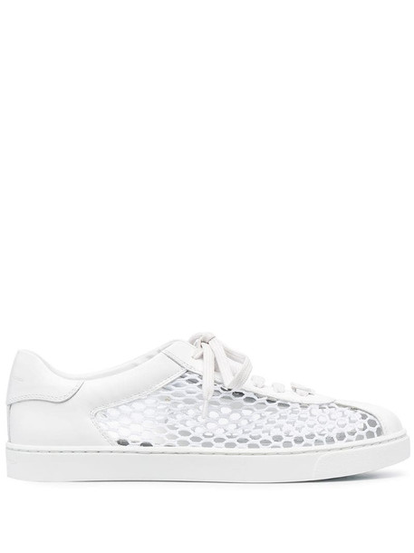 Gianvito Rossi Helena mesh-panelled sneakers in white