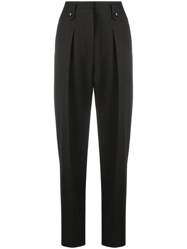 Luisa Cerano high-waisted tapered trousers in grey