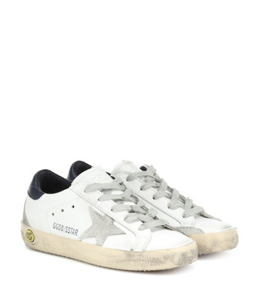 Golden Goose Deluxe Brand Kids Superstar leather sneakers in white