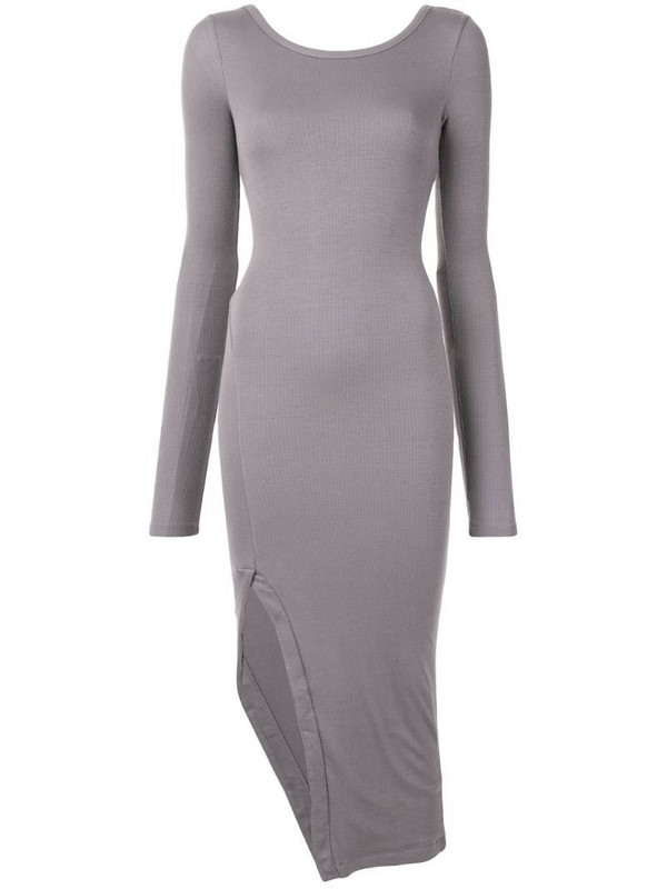 ALIX NYC Lester twist-back dress in grey