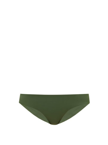 Jade Swim - Lure Stretch Jersey Bikini Briefs - Womens - Dark Green