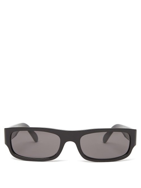 Celine Eyewear - Rectangular Frame Acetate Sunglasses - Womens - Black