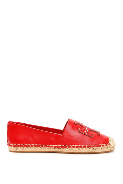 Tory Burch Ines Leather Espadrilles in red