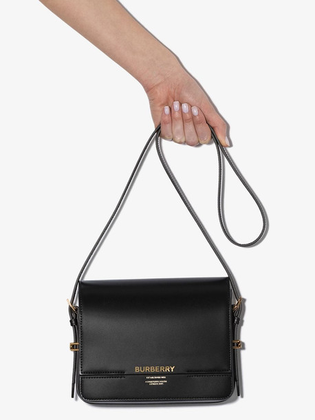 Burberry Small Leather Grace Bag in black