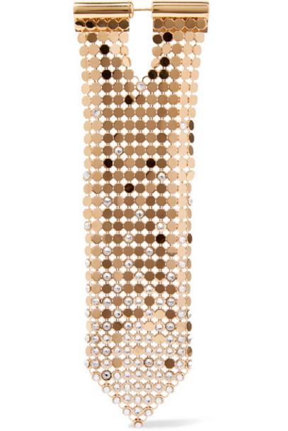 Paco Rabanne - Gold-tone Crystal Earring