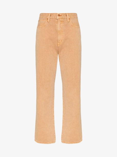 Slvrlake beige flared high rise jeans