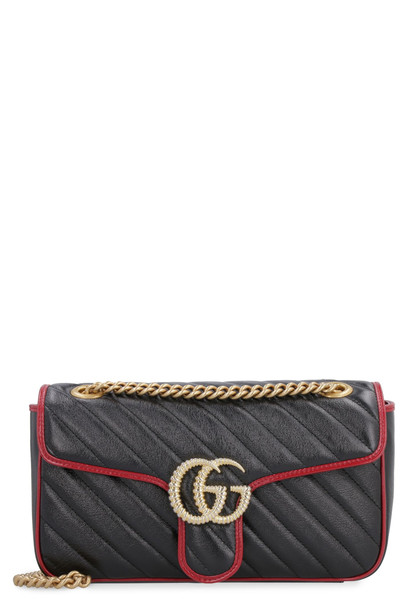 Gucci Marmont Quilted Leather Shoulder Bag in black