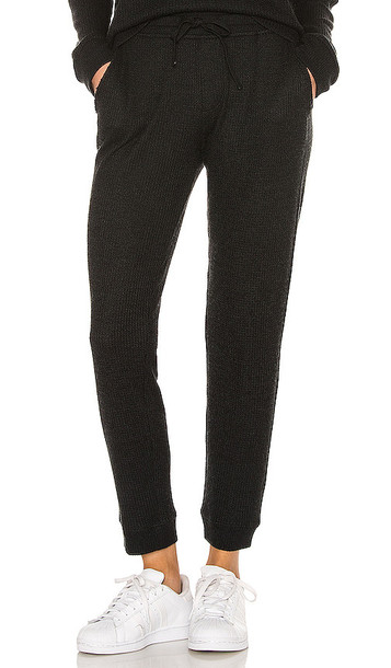 ATM Anthony Thomas Melillo Waffle Pull on Pant in Black