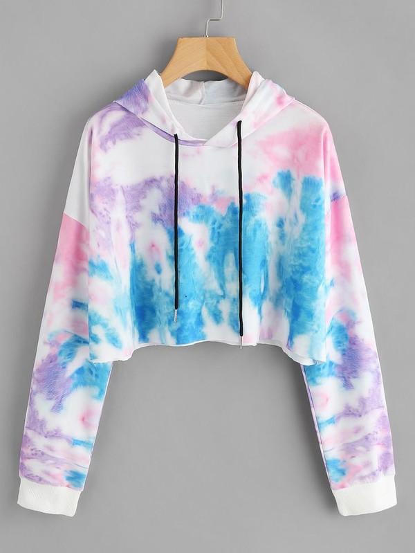 sweater sweateshirt colorful blue pink white purple cool girl