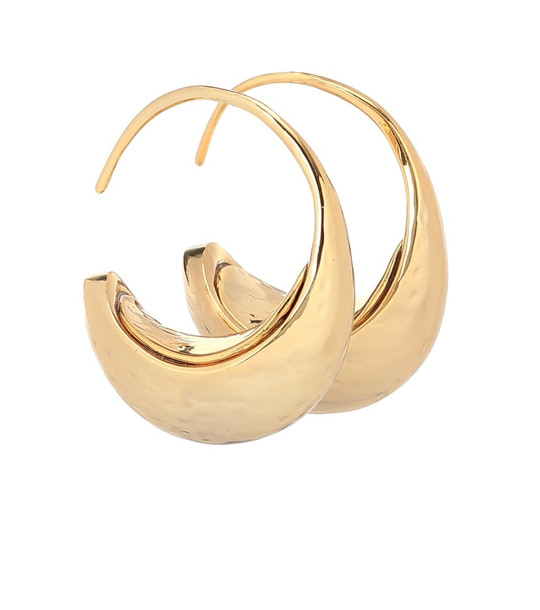 Rejina Pyo Moon 24k gold-plated hoop earrings