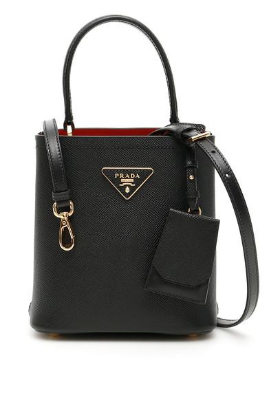 Prada Double Saffiano Bag in nero