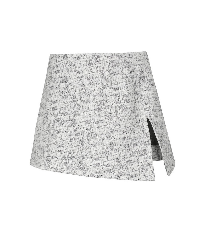 Coperni Tweed miniskirt in black