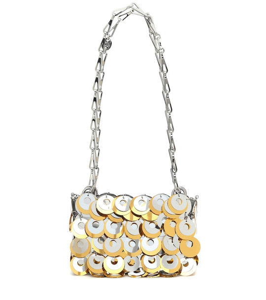 Paco Rabanne Sparkle 1969 mini shoulder bag in silver