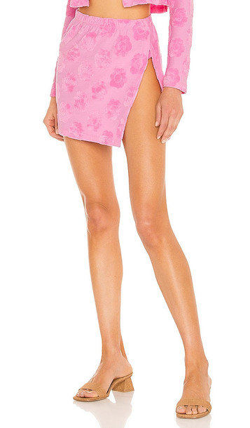 Frankies Bikinis Stacey Terry Skirt in Pink