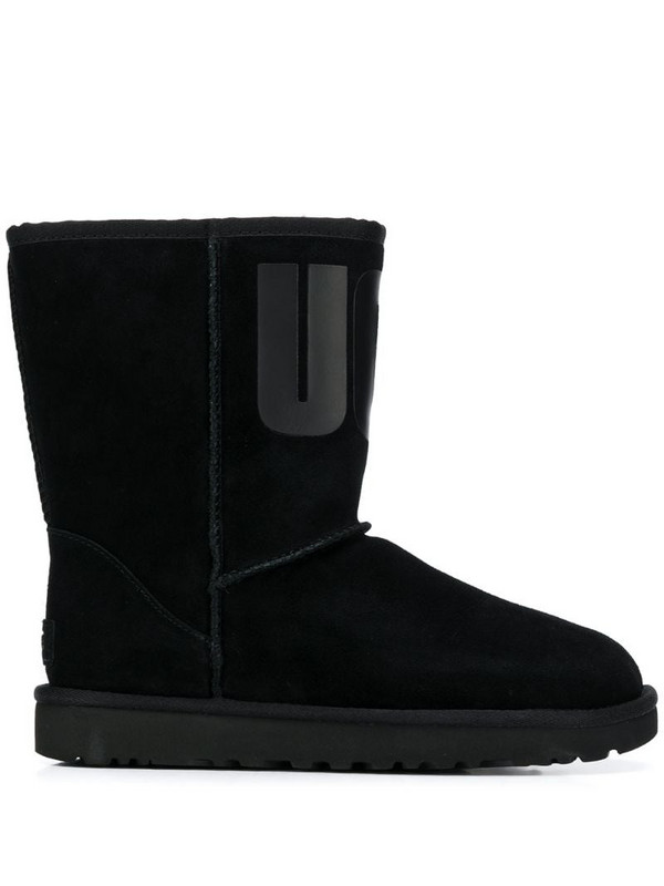 UGG logo ankle boots in black