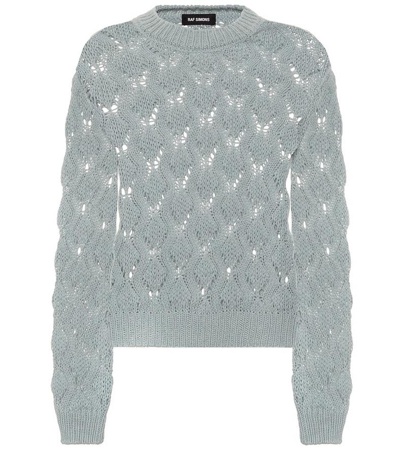 Raf Simons Alpaca-blend sweater in blue