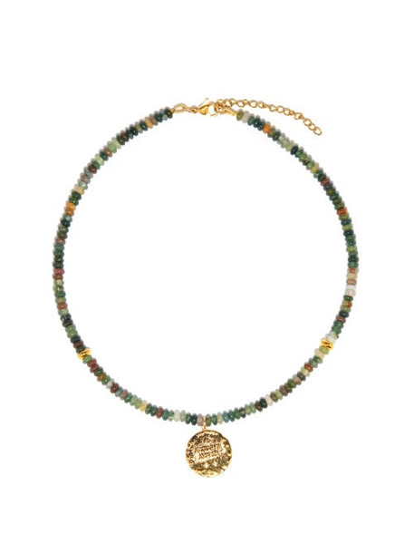 By Alona - Nova Moss-agate & Gold-plated Necklace - Womens - Green Multi