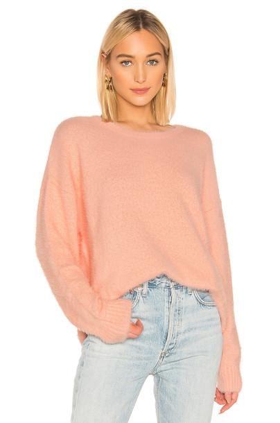 Central Park West Shangri La Sweater in pink