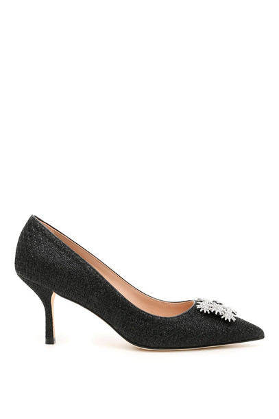 Stuart Weitzman Star Buckle Kelsey 75 Pumps in black