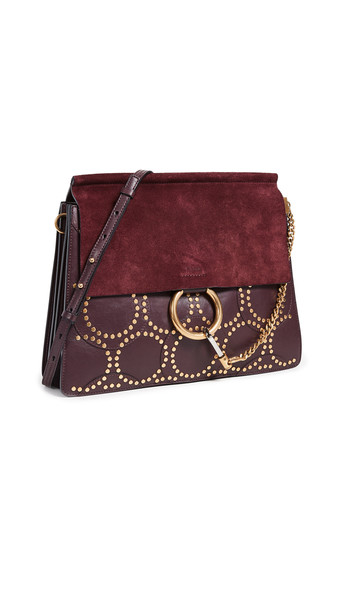 What Goes Around Comes Around Chloe Stud Medium Faye Bag in red