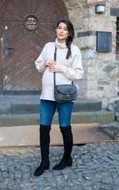 seekingsunshine,blogger,sweater,jeans,shoes,bag,jewels