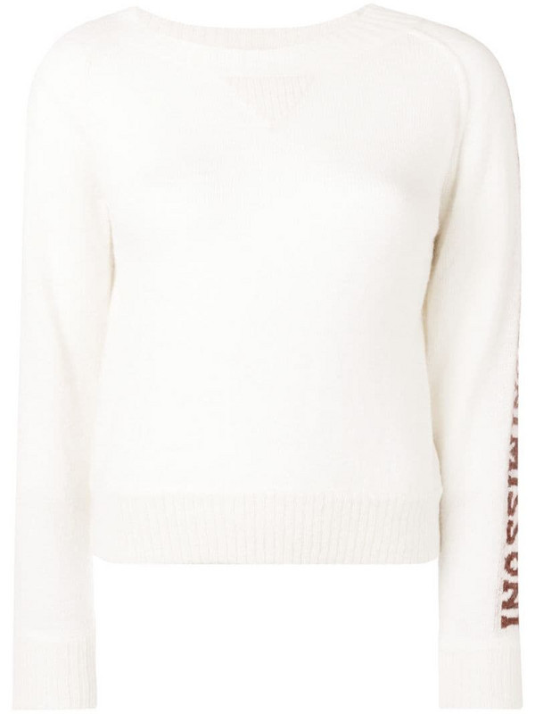 Missoni intarsia-knit jumper in white